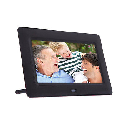 7inch HD LCD Digital Photo Frame with Alarm Clock Slideshow MP3/4 Video Player