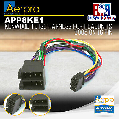 Aeropro Kenwood To Iso Connector Plug Harness 16 Pin For Kdc-153 Wiring Loom