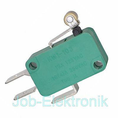Mikroschalter mit Rolle 230V  -  4A   Microschalter Microswitch KW1-103
