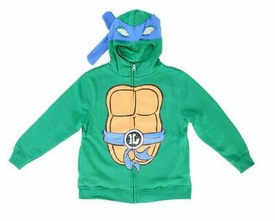 Boys Teenage Mutant Ninja Turtles Leonardo Costume Zip Up Hoodie Sweatshirt