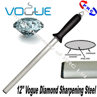 "Vogue Diamond Sharpening Steel Knife Sharpener 12"" - Professional Catering 305mm"