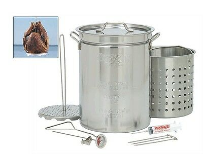 Bayou Turkey Fryer Pot, Classic 1118 32 Quart Stainless Steel