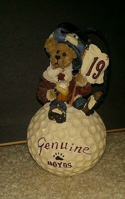 Christmas Golfing 2000 BOYDS Bear Masters  ORNAMENT Limited Edition