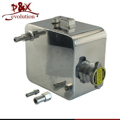 Alloy Header Expansion Water Aluminium Universal 2 Litre Polished Tank & Cap 2L