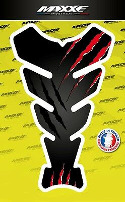 Protection réservoir griffe moto noir rouge sticker gel bike gas tank monster