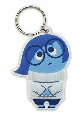 Inside Out - Rubber Keychain / Key Ring (Sadness)