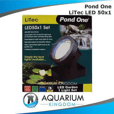 Pond One LiTec LED 50x1 Submersible or Garden Lights Installation - Wet or Dry