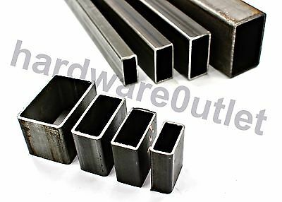 Mild Steel RECTANGLE Box Section 40 x 20, 50 x 25, 60 x 30, 75 x 50 100 x 50