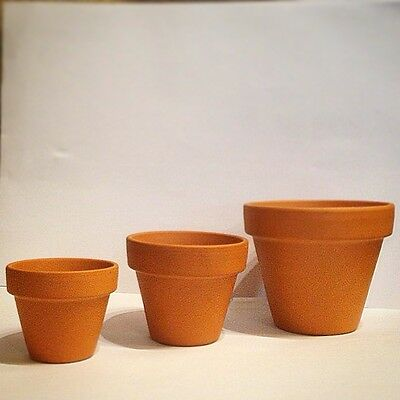 Vintage Style Terracotta Plant Pots 1~50 pcs, 5 different sizes, Bulk, Wholesale