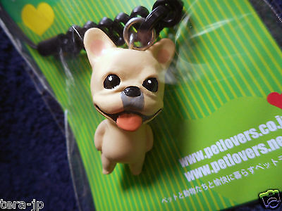 PetLovers French Bulldog (fawn) Figurine Phone Strap Japan