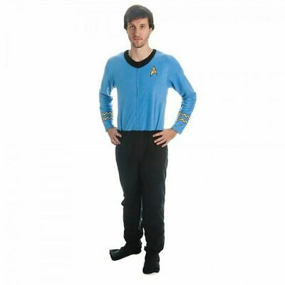 Adult Men's Science Fiction Television Show Star Trek Blue Uniform Union Suit