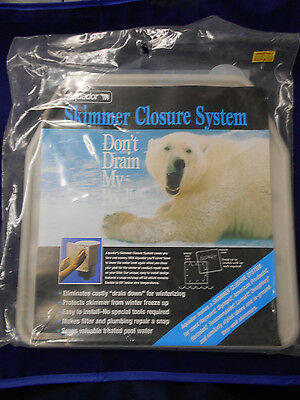 Aquador Skimmer Closure System for Lomart skimmers Beige/Grey
