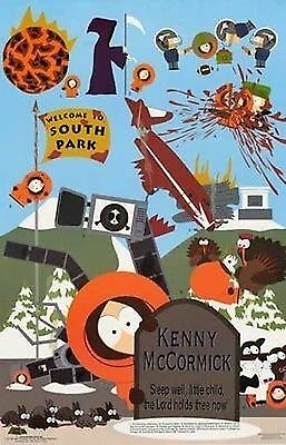 "TV POSTER~South Park Death Kenny McCormick Different Ways to Die Orignl 22""x34""~"