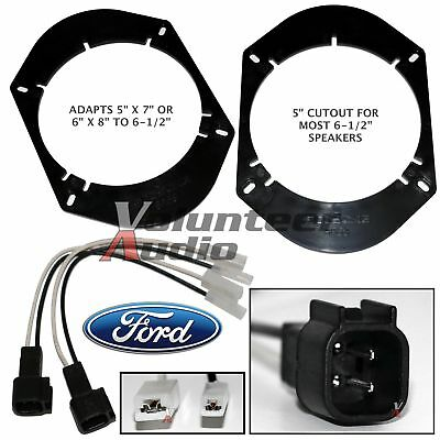 "SA68 + SHFD03B 5""X7"" 6X8"" To 6.5"" Speaker Adapter Plate Mount + Adapters Harness"
