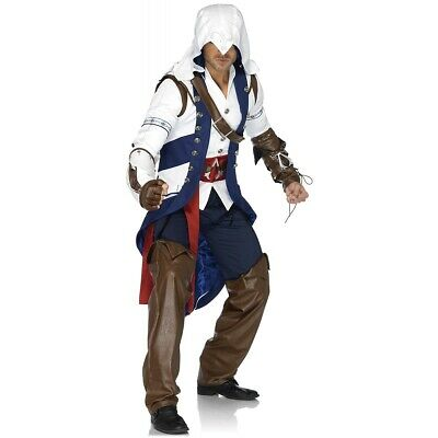 Assassins Creed Costume Adult Connor Halloween Fancy Dress