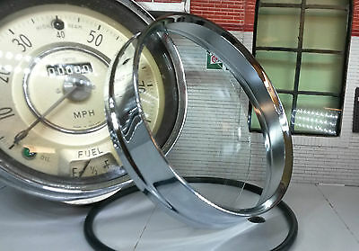 Smiths Speedo Chrome Bezel Trim Glass fit Morris Minor 1000 850 Traveller Saloon