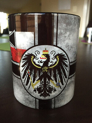 WWI German Patriotic Mug Imperial War Flag WW1 Imperial Eagle Germany Iron Cross