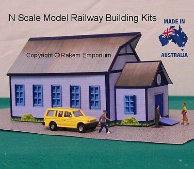 N Scale Hall Old Style Timber Australian CWA Model Railway Building Kit - NCWAS1