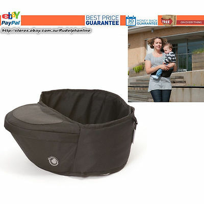 NEW Hippychick hipseat Plain Black baby sie on non-spit pad carrier new mum