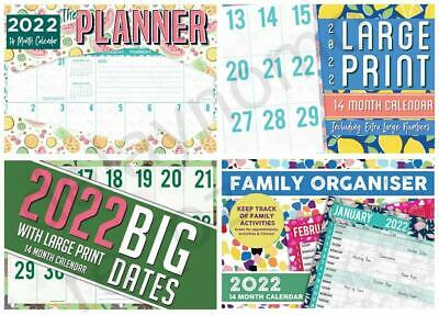 2019 Calendars Large Print / The Planner  Christmas Birthday Gift
