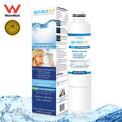 DA29-00020A/B COMPATIBLE WATER FILTER for Samsung Fridge SRF680CDLS By AQUA BLUE