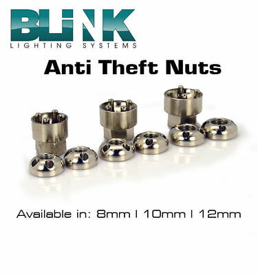 Blink Anti Theft Security Nuts 8Mm, 10Mm ,12Mm Led Light Bar Spot Light Flood