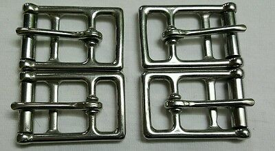 "Dressage Girth 1"" Stainless Steel Buckles 2 Set 8 Buckles Brand New"