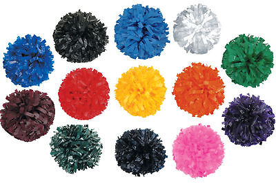 """Poms IN Stock 6"""" CheerLeader Solid Color FREE SHIP"""