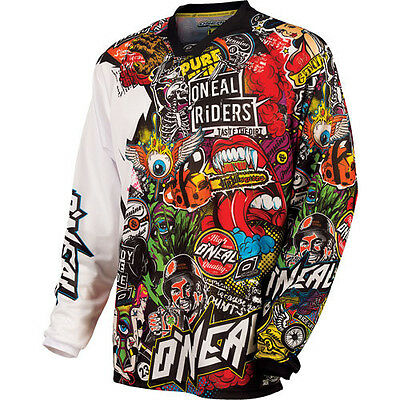 O'Neal Mayhem Crank Motocross Motocross Dirtbike MTB BMX Off-Road Riding Jersey