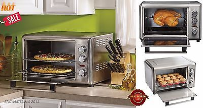 Commercial Kitchen Pizza Cake Oven Bake Meat Chicken Rotisserie Broil Countertop