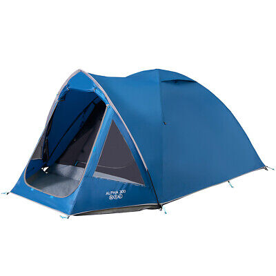 Vango Alpha 300 - Ensign / Bluebell - 3 Person Tent (Vte-Al300-9) Camping Hiking