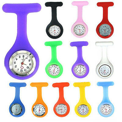 Silicone Nurse Fob Pocket Watch Hot Design Style Stainless Steel Silver Free PnP