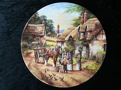 Wedgwood Collectors Plate- Country Days - Buying the Bread.