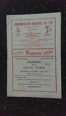 Kidderminster Harriers V Yeovil Town 1957-58