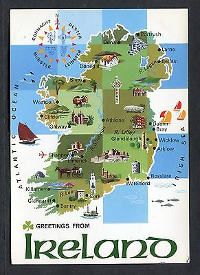 C1970's Pictoral/Illustrated Map of Ireland.