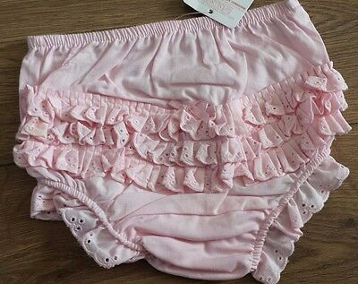 Soft Touch Baby Girl's Pink Frilly Knickers/Pants -100%Cotton, 0-6, 6-12, 12-18