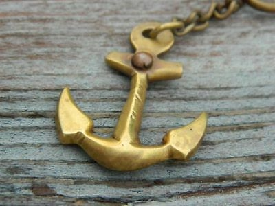 Beautiful Brass Ship Anchor Key Chains-Nautical Gift & Antique Finish