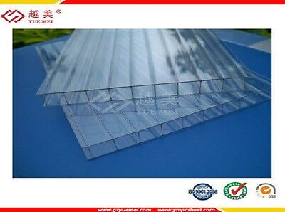 Twinwall Polycarbonate 8 mm 4 ft x 12 ft Sheets UV Protected 10 Years Warranty