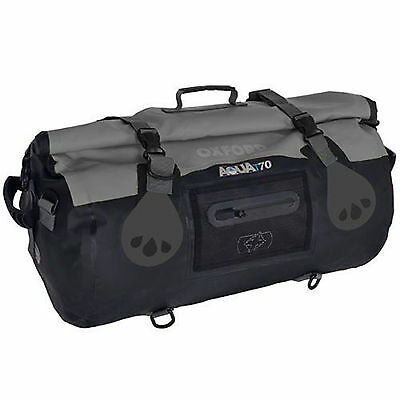 Oxford Motorcycle Waterproof Roll Bag Holdall Aquat70 All Weather Luggage 70L