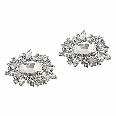 "Jewelled Shoe Clips, Shoe Jewels, Bridal Prom Shoe Accessories (1 Pair) ""Mya"""