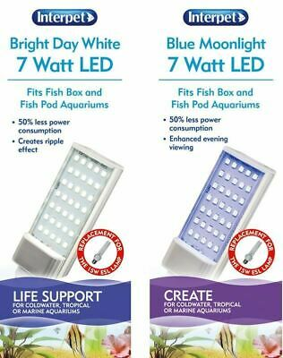Interpet Fish Pod & Moon Tank LED Aquarium Light Bulb 7w Actinic or White