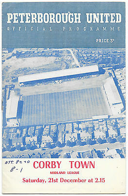 Peterborough United v Corby Town ,1957/58 - Midlands League Match Programme