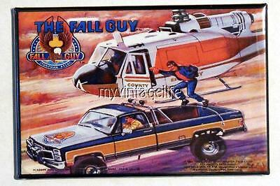 "Vintage THE FALL GUY TV SHOW Lunchbox 2"" x 3"" Fridge MAGNET Art side B"