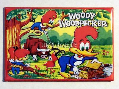 "Vintage WOODY WOODPECKER Lunchbox 2"" x 3"" Fridge MAGNET ART"