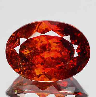 4.25 cts Rare Natural Oval-cut Red/MultiColor Flashing VVS Sphalerite (Spain)