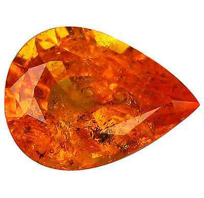 1.80 ct Natural Pear-cut Fanta-Orange SI Spessartite Garnet (Nigeria)