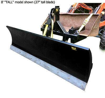 USA BUILT SLF 8' Tractor Loader Bucket Snow Pusher Connection Snow Plow 27