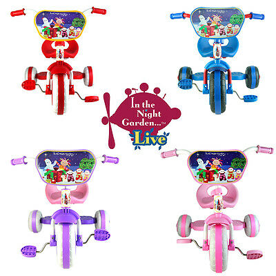 New In The Night Garden Trike Tricycle Kid Child Toddler 3 Wheel Car Ride On Toy