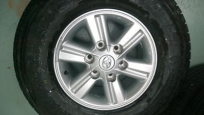 Toyota Hilux SR5 2012 Xtra Cab Genuine 15x7 Alloy wheels/rims with 80% tyres
