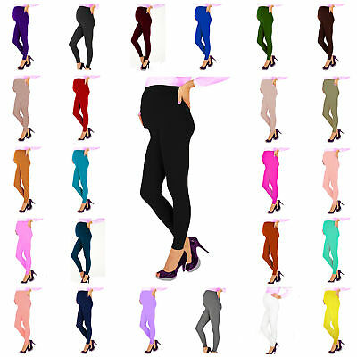 Women Ladies Full Length Maternity Nursing Pregnancy leggings Over the Bump NEW